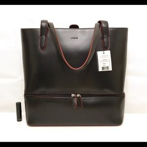 Lodis Audrey Amil Commuter Black Leather Tote